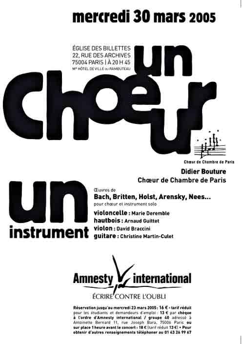 pour Amnesty internationnal 2005
