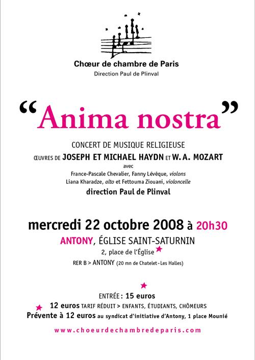Anima nostra octobre 2008