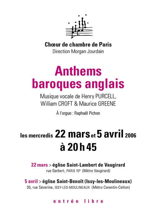Anthems baroques anglais 2006