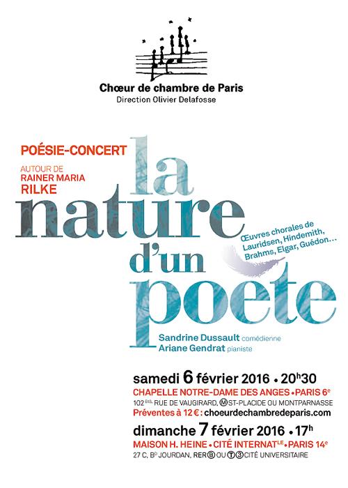 Poésie-concert autour de Rilke, février 2016