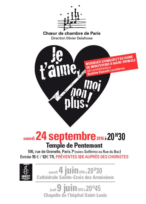 20h30, temple de Pentemont, Paris 7e